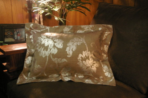 Custom Sewn And Designed Decorative Throw Pillows Using
